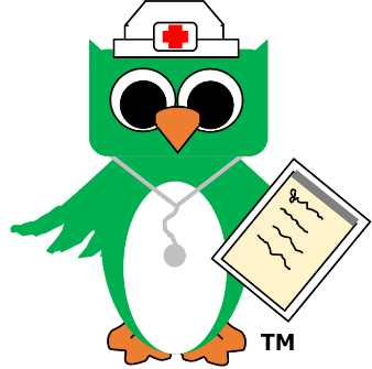 CareGiver Owl with notepad 338 trademark