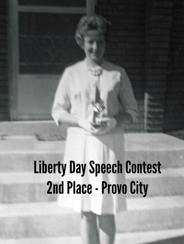 6.20.63 Provo City Speech Contest 2nd Place